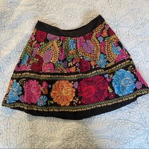 Edme and Esyllte Anthropologie floral short skirt